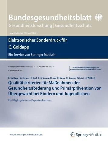 Qualitätskriterien für Maßnahmen der Gesundheitsförderung und ...