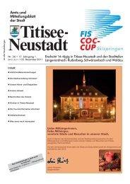 Weihnachtskonzert am 25.12.2011 - Titisee-Neustadt