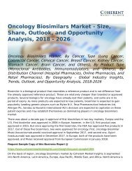 Oncology Biosimilars Market Opportunity Analysis, 2018-2026