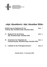 dipl. Akustikerin / dipl. Akustiker SGA - Schweizerische Gesellschaft ...