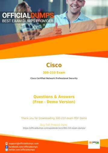 300-210 Exam Questions - [New 2018] Pass with Valid Cisco 300-210 Exam Dumps