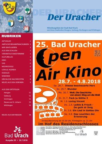 Der Uracher KW 30-2018