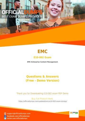 E10-002 Exam Questions - [New 2018] Pass with Valid EMC E10-002 Exam Dumps
