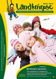 Mit Kindern sprechen - Landknirpse - Veranstaltungen
