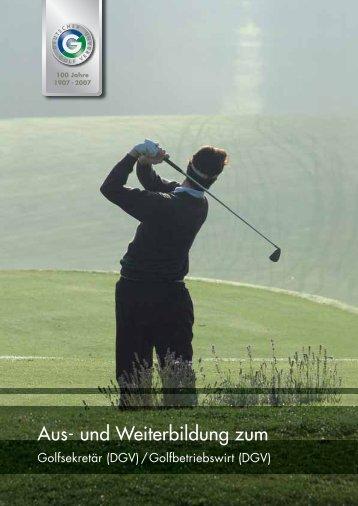 Die Seminare sind auch einzeln buchbar! - Golf.de