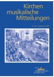 Chorleiter(in) - Amt für Kirchenmusik - Startseite