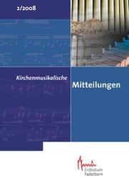 Inhalt IPD_2_2008 - Kirchenmusik im Erzbistum Paderborn