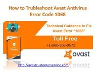 avast tech support 1-800-305-9571