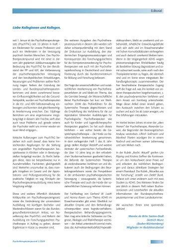 Verhaltenstherapiewochen 2009 - Psychotherapeutenjournal