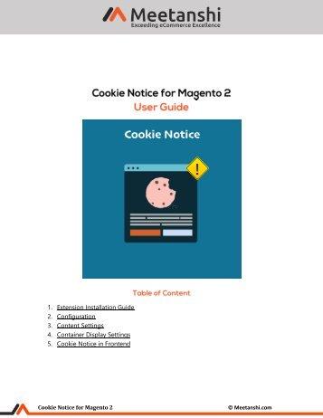 Magento 2 Cookie Notice