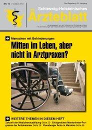 Stellenangebote/Stellengesuche - Schleswig-Holsteinisches Ärzteblatt
