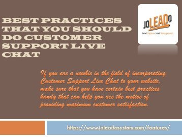 Best Practices That You Should Do Customer Support Live Chat