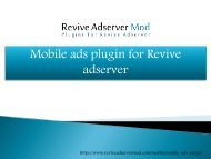 mobile advertising plugins for revive adserver