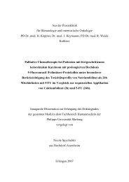 Aus der Praxisklinik für Hämatologie und internistische Onkologie ...