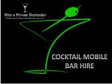 Planning For Party Outside? Take the Cocktail Mobile Bar Hire Option