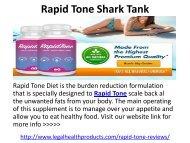 Rapid Tone Shark Tank