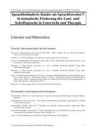 Systematische Förderung der Laut - Dr. Karin Reber