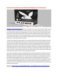 Increase Your Testosterone Level and Feel power in body with Playboy Iconic Testosterone
