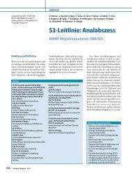 S3-Leitlinie: Analabszess - AWMF