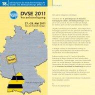 DVSE 2011 - DVSE Kongressportal. Deutsche Vereinigung für ...