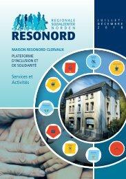 Activités et services du Resonord (2e semestre 2018)