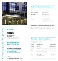Programm - Berufsverband Deutscher Nuklearmediziner