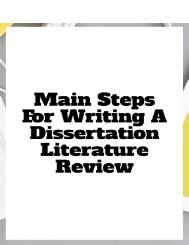 Main Steps for Writing a Dissertation Literature Review