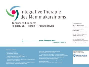 Implementierung Integrativer Onkologie in - Kongress Integrative ...