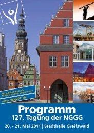 21. Mai 2011 - in der Universitätsmedizin Greifswald - Ernst-Moritz ...