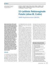 S3-Leitlinie: Rektovaginale Fisteln (ohne M. Crohn) - AWMF