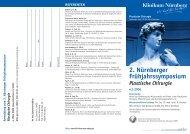 Programm - Nürnberger Frühjahrssymposium Plastische Chirurgie