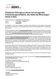 Plastische Chirurgie zu einem hervorragenden ... - fair-NEWS.de