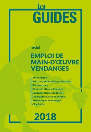 Emploi de main-d'œuvre vendange 2018