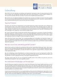 Lidstraffung - Praxisklikik für plastische und ästhetische Chirurgie