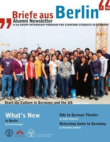 der Krupp-Stiftung - Bing Overseas Studies Stanford University