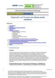 Ulcus cruris venosum - AWMF