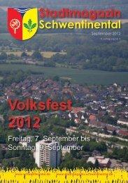 Volksfest 2012 - beim Stadtmagazin Schwentinental!