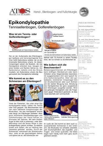 Epikondylopathie - und Fußchirurgie