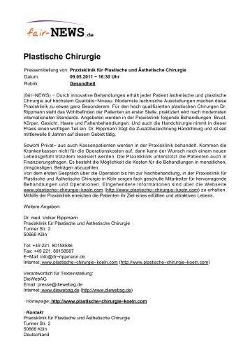 PDF :: fair-NEWS.de :: Plastische Chirurgie