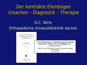 Der kontrakte Ellenbogen Ursachen - Diagnostik - Therapie