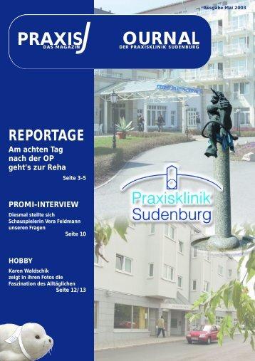PRAXIS OURNAL - Praxisklinik Sudenburg
