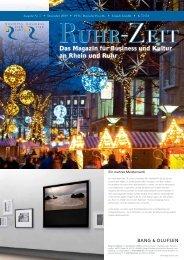Das Magazin für Business und Kultur an Rhein und Ruhr - Tectonika