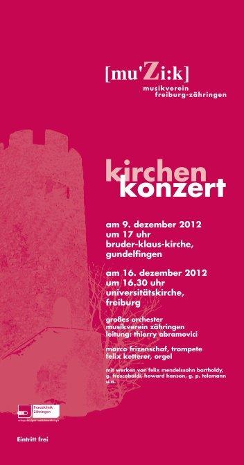Musik ist Bewegung - Musikverein Freiburg-Zähringen