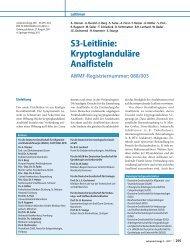 S3-Leitlinie: Kryptoglanduläre Analfisteln - AWMF