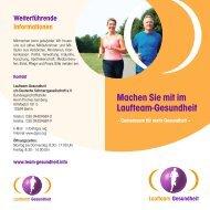 Laufteam-Gesundheit - Schmerz