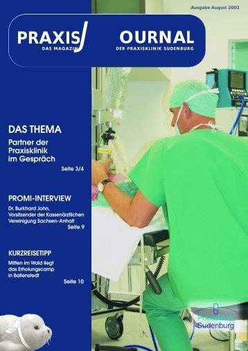 Praxisjournal August 2002 (pdf-Datei 2 MB) - Praxisklinik Sudenburg