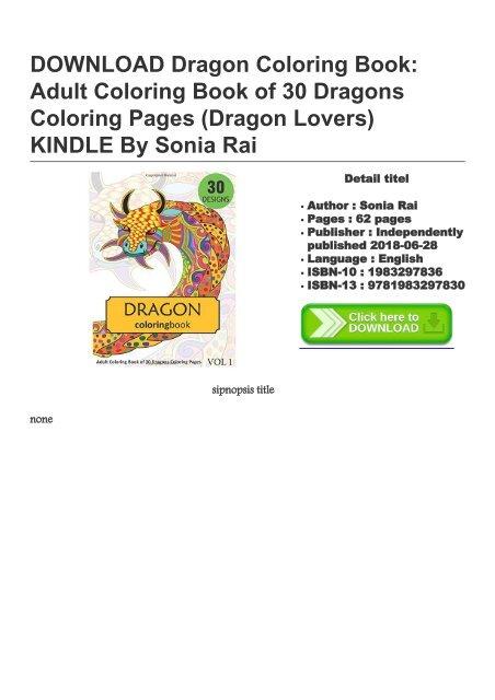 Dragon Coloring Book Adult