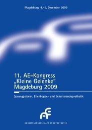"11. AE-Kongress ""Kleine Gelenke"" Magdeburg 2009 - sebastian ..."