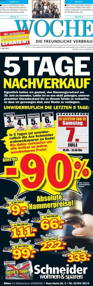 LETZTER TAG - Wochenpost