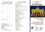 Anmeldung zur Tagung Aktuelle Proktologie 2012 - Kongress ...
